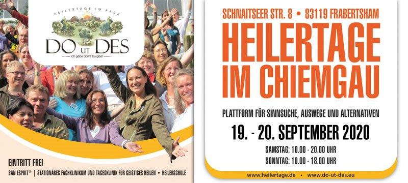 DO UT DES 2020 - Heilertage im Chiemgau