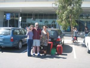 Abschied am Flughafen in Adelaide